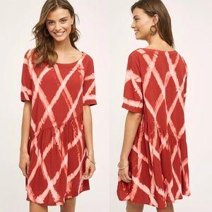 The Odells for Anthropologie Red Riya Swing Dress